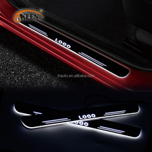 2017 New Car LED Welcome pedal Logo Flash led moving door scuff sill plate for all car