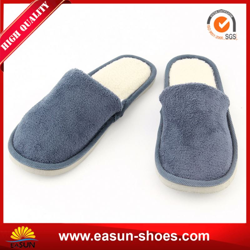 Plush indoor Slip on flat Genuine leather comfort shoes