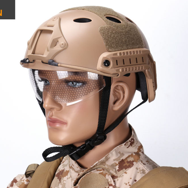Alibaba.com / Army Military Tactical Helmet Cover Casco Airsoft Helmet Accessories Emerson Paintball Fast Jumping Protective Face Mask Helmet