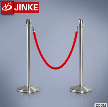 China Manufacturer Stanchion Posts Queue Pole Retractable Red Rope Crowd Control Barrier