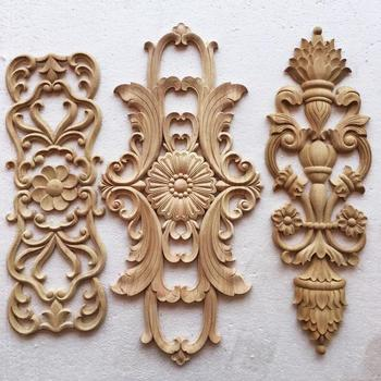 Wooden Liques And Onlays Furniture Wall Home Cabinet Door Decoration Crafts