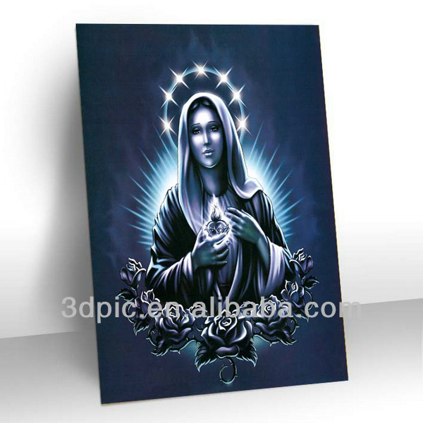 China wholesale 3d religious picture of loved goddess