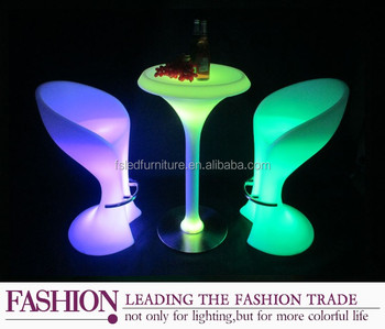 Decorative Light Up Bar Table / Led Party Tables And Chairs For Sale