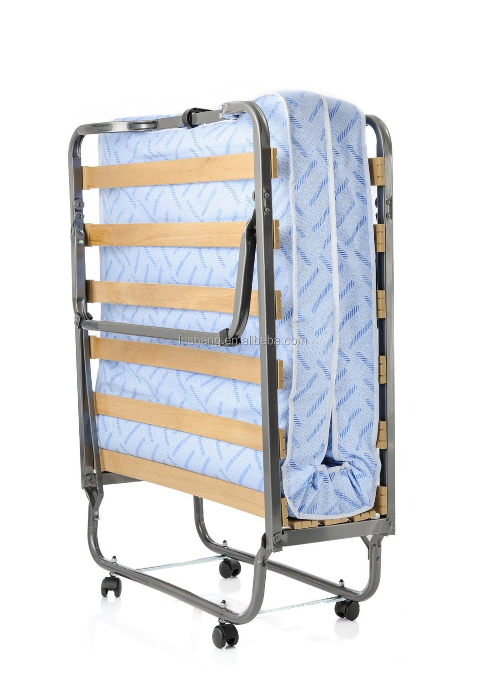 Full size rollaway bed with mattress - Slat Folding Rollaway Bed With Memory Foam Mattress Twin Size
