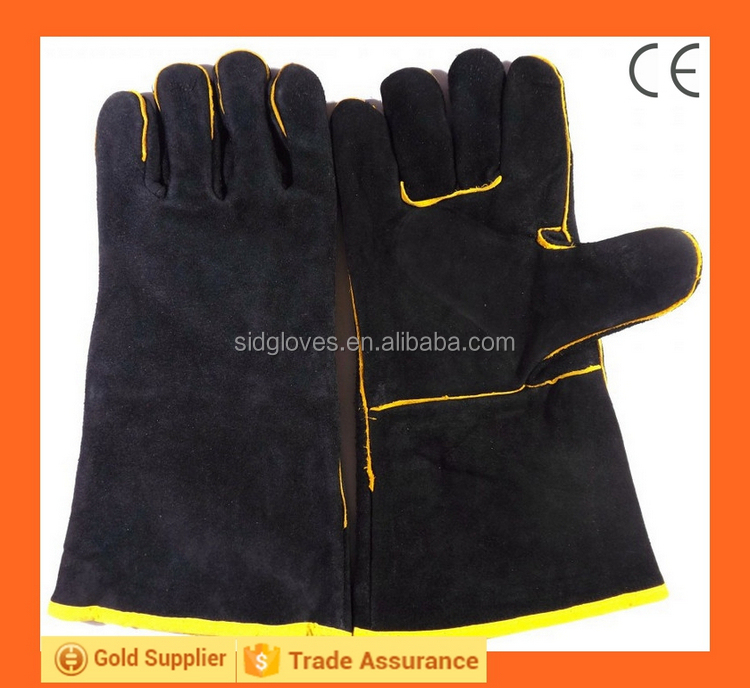Welding Leather Glove Cow Split Leather Professional Safety Equipment