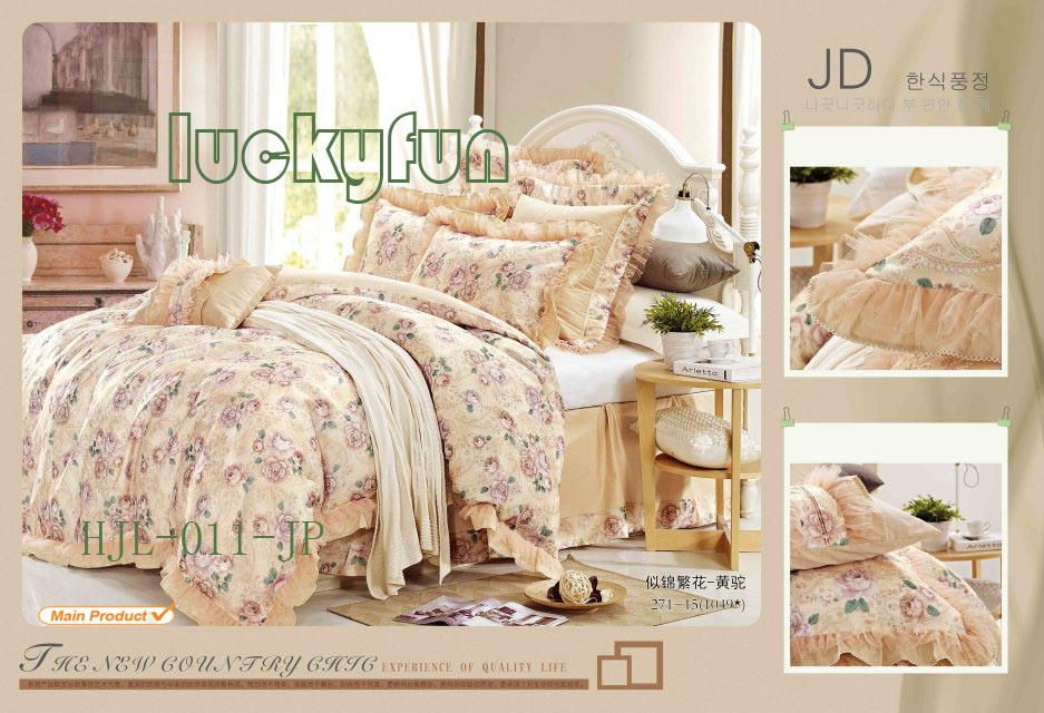 Jacquard cotton printed bed set duvet cover/ bed sets and quilt cover/ comforter set