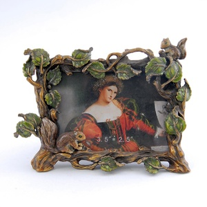 Custom vintage baroque metal photo picture frame
