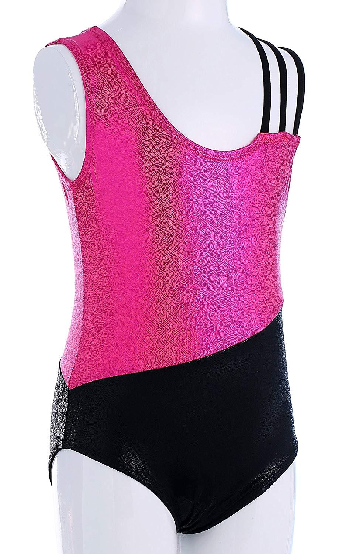 3e29d8af Get Quotations · MOLLDAN Girls' Sparkle Gymnastics Tank Leotard Ballet Dance  Dress with 3 Straps Toddler Vest Thong