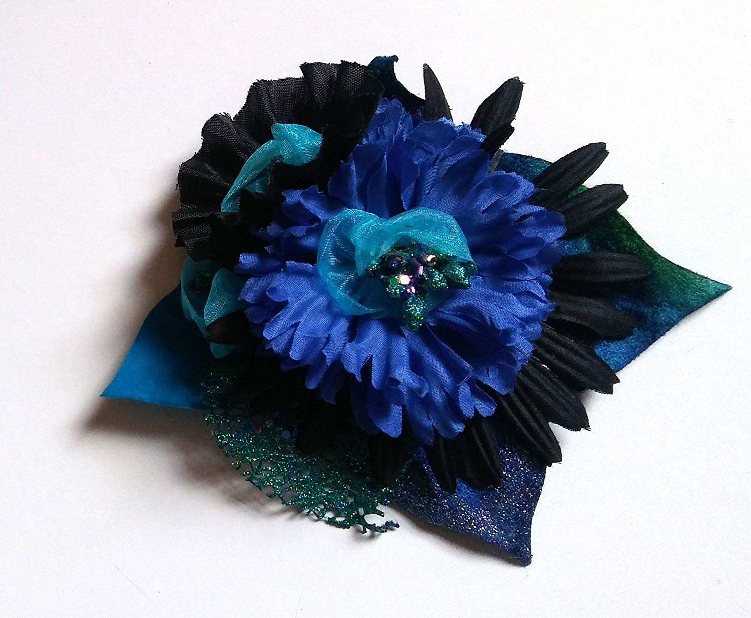 Buy Navy Blue Hair Flower Net Feather Clear Comb Fascinator Bridal
