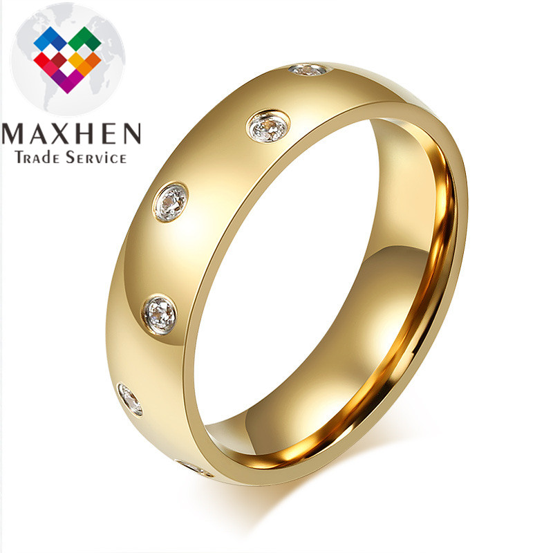 Simple Design Fashion Woman Man Couple Wedding Rings With Zircon 18k Gold Plated Buy At The Price Of 3 96 In Alibaba Com Imall Com