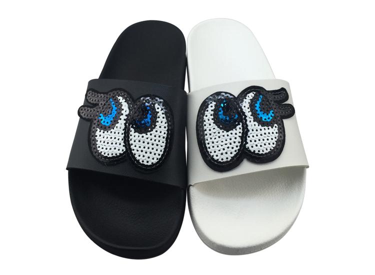lovely girls shoes cute eyes soft slides kids slippers