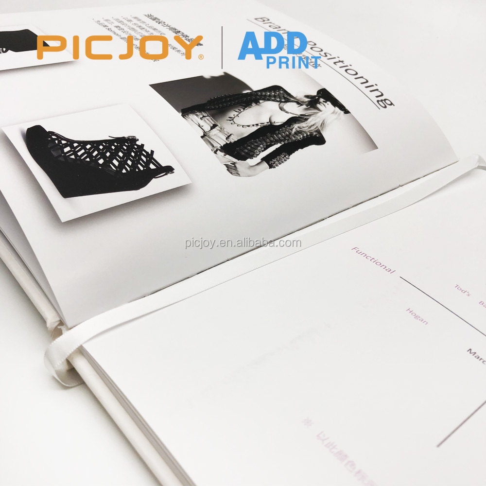 40 pages 210*240mm book printing hard cover case bound branding guide book hp indigo digital printing in shanghai