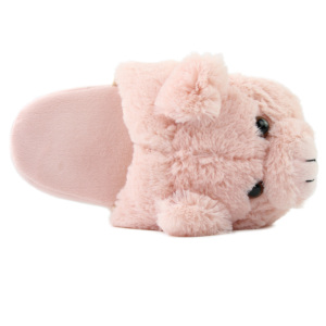 Plush Pink Fluffy pig Animal Indoor slippers for Women