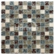 High Quality Brown And Grey Square Stone Mosaic Mixed Factory Supply Thickness 8 MM Broken Glass Mosaic Tile
