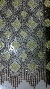 African water soluble lace fabric with squins