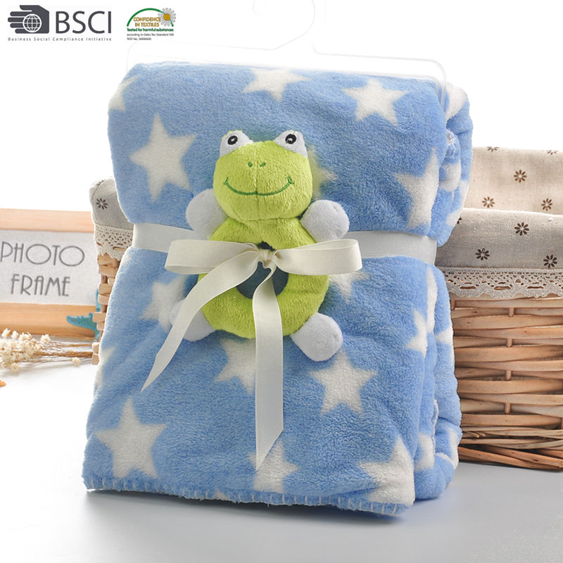 Wholesale Toys Baby Blanket Cheap Knit Plush Sherpa Fleece Bed Throw