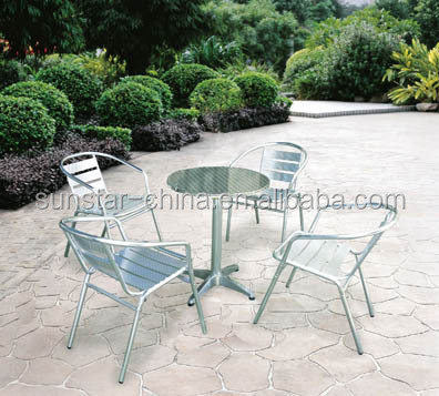 Outdoor Garden Chair Stainless Steel Table And Set L91401 3 Dining Sets China In Polished