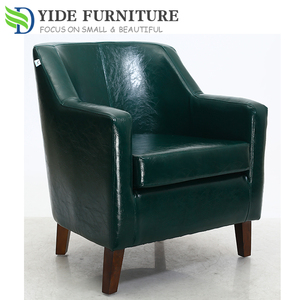 Synthetic Leather design Tub chair for coffee shop