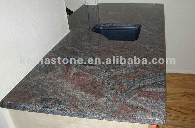 lila paradiso k che fertighaus granit tischplatte. Black Bedroom Furniture Sets. Home Design Ideas