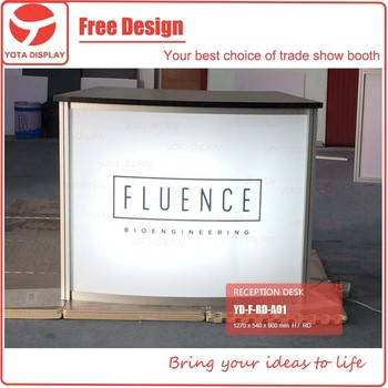 Exhibition Stand Reception : Yota offer fluence reception desk counter for exhibition stand