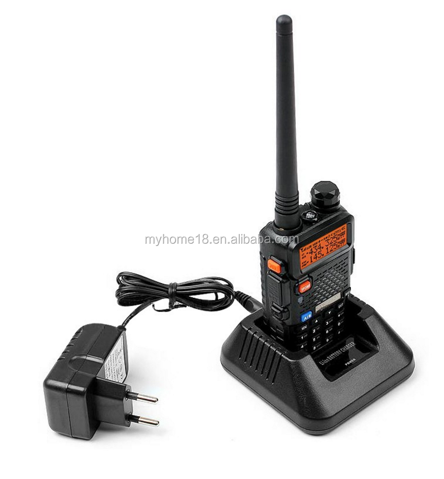 Baofeng UV-5R 2 via rádio vhf/uhf portátil mini walkie talkies Rádio Dual Band Walkie Talkie UV5R