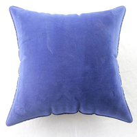 purple square low back office chair air cushion for travel,lumbar support pillow,flocked sofa cushion