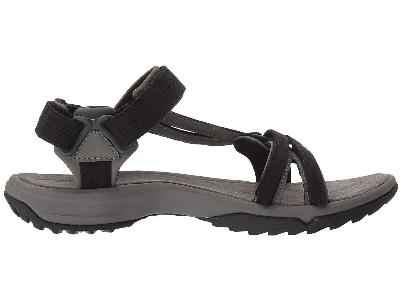 d04ca3f8e9a6 Get Quotations · Teva Terra Fi Lite Leather Sandal Women s Hiking 7 Black
