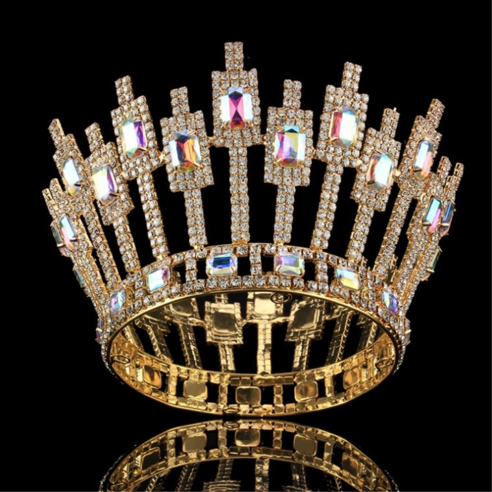 Unique design big queen tiara pageant crystal rhinestone <strong>crown</strong>