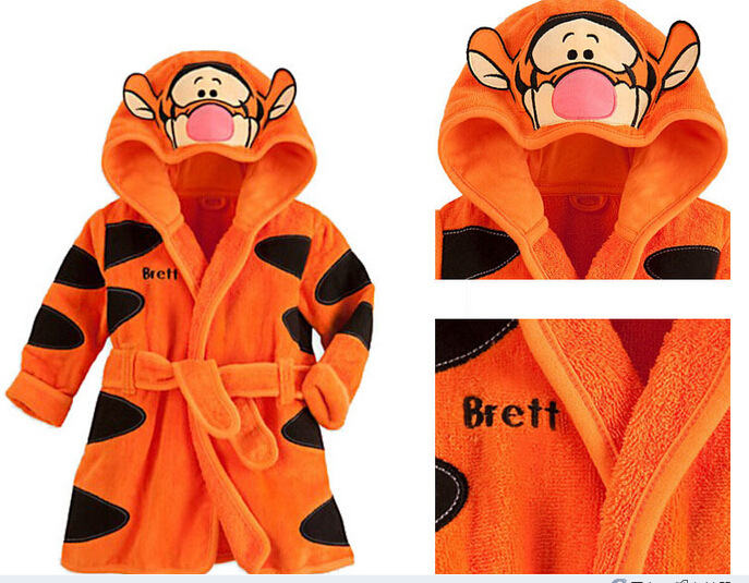 Hot Sale Children Hooded Bathrobe Towel Baby Boys Girls Flannel Lovely  Cartoon Animal Robes Dressing Gown Kids Home Clothing - Deal of The Day  Deal of The ... 241451f48