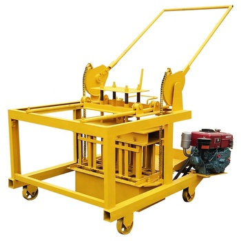 Ds Qm4-45 Diesel Egg Laying Mobile Concrete Hollow Block