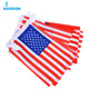 14*21cm red and white lines sublimation american flag bunting