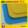 Corrugated plastic layer pads