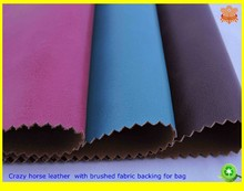 2015 new products in China crazy horse leather for bag