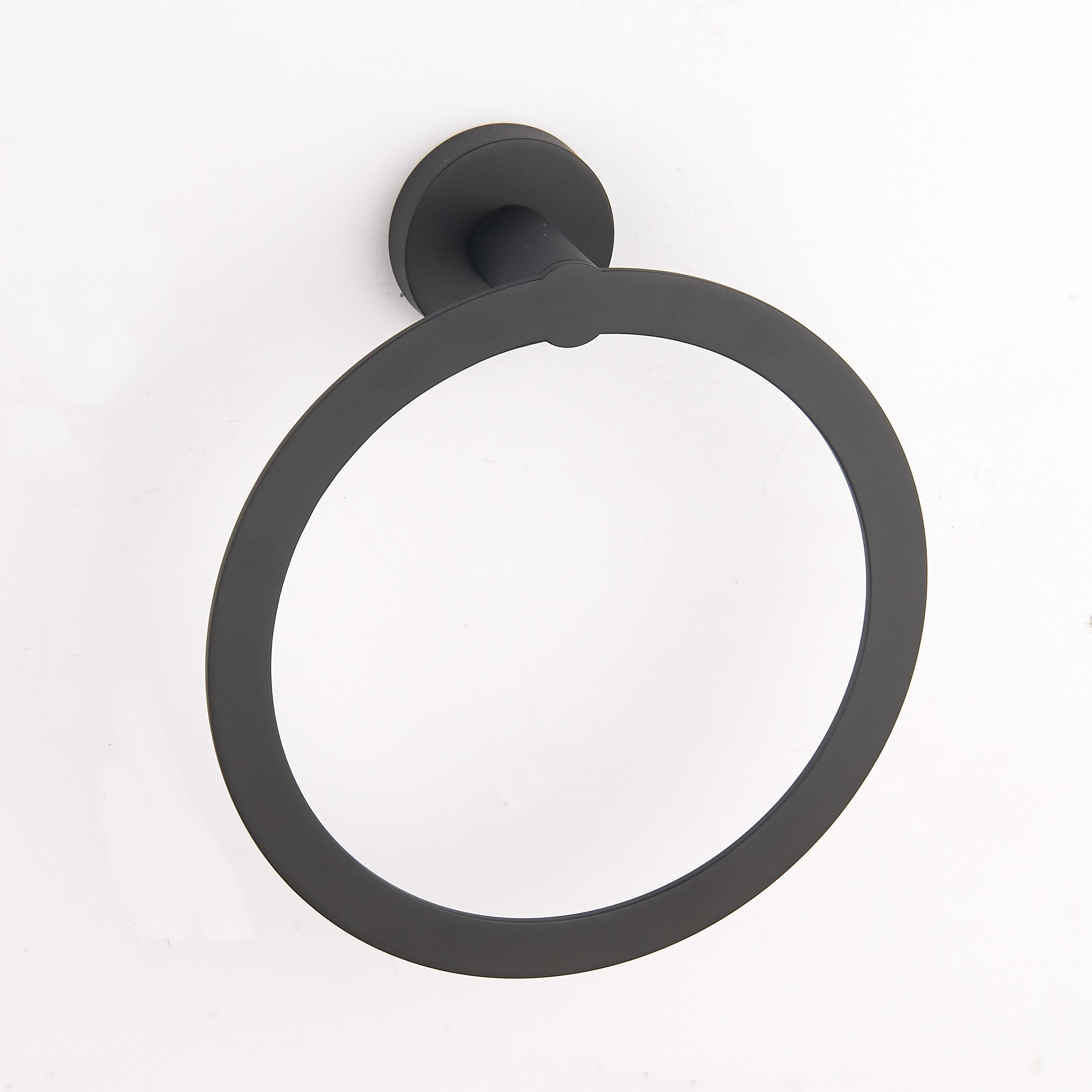 50532 Coleção de zinco Redonda Anel de Toalha do banheiro preto