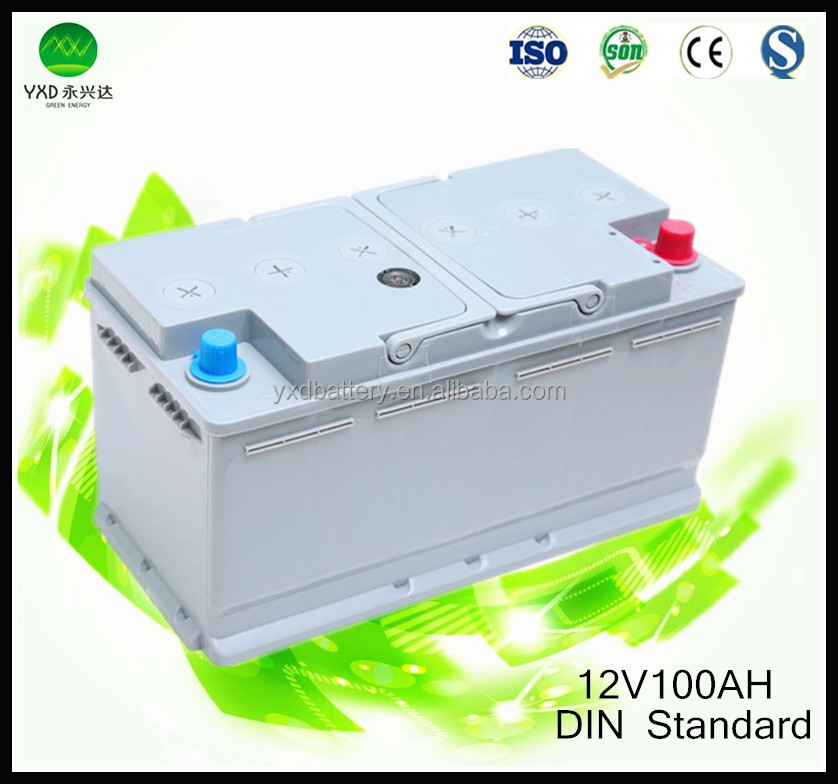 12 V DIN standard dry carica auto batery in batterie ricaricabili