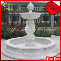 Large Decorative White Marble Stock Garden Water Fountain with Statues