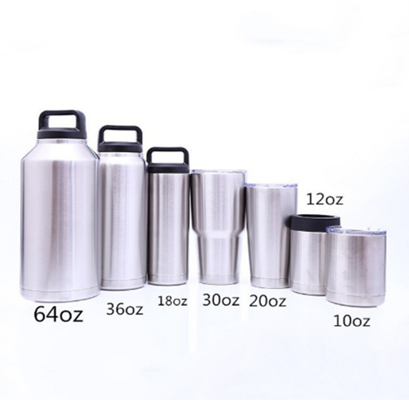 Promotional Stainless Mug 20oz Tumbler Thermos custom Printed Etch Silk Laser Logo Sublimation Blanks