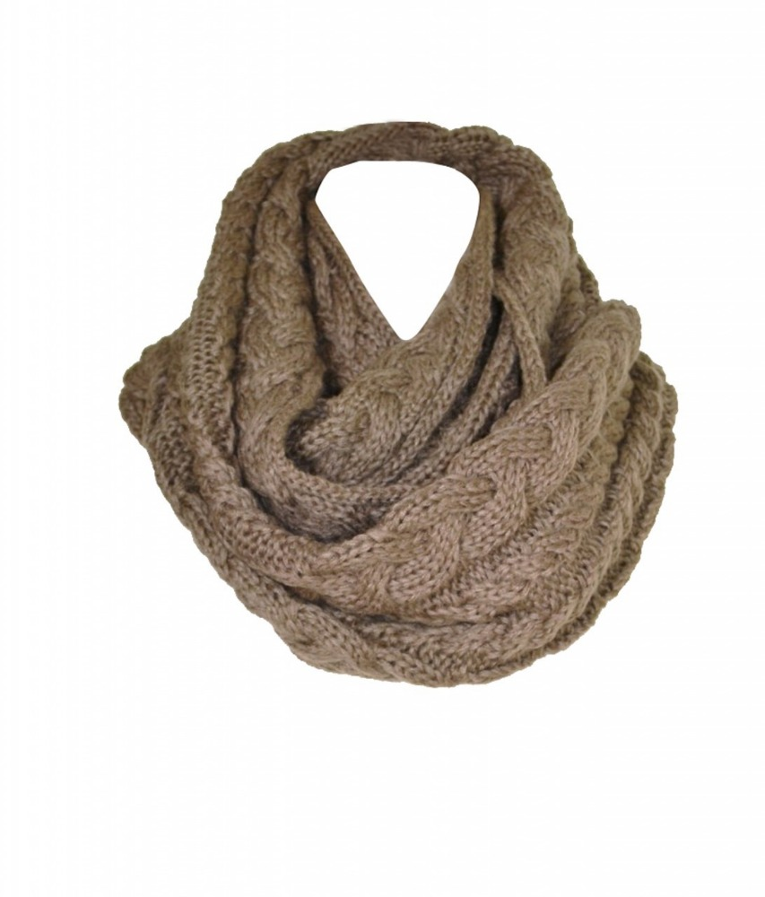 Latest fashion new design infinity knitted scarf wholesale