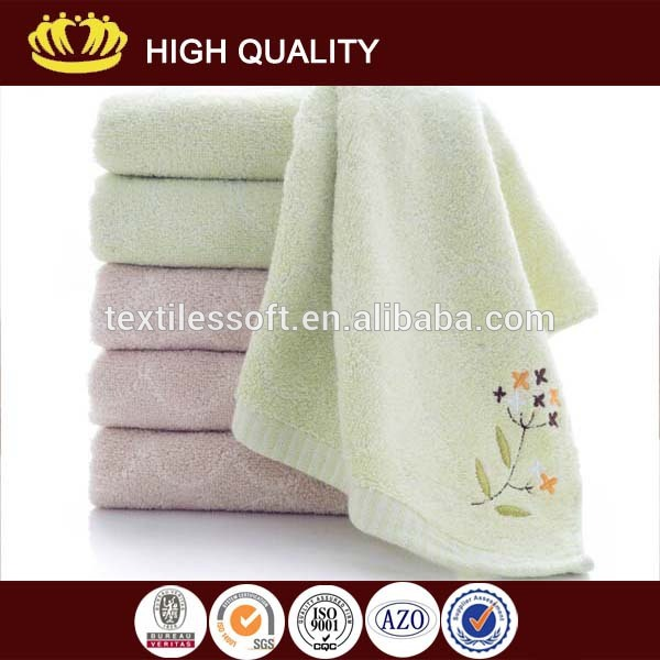 wholesale 100% cotton Sirospun embroidery logo towel towel set