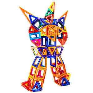 102PCS Customizable 3D Educational toys manufactures ABS magnetic intelligence building blocks for sale