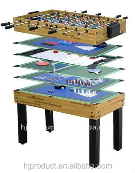 Hot Selling 12 In 1 Multi Game Table With Billiards Push Hockey Foosball Ping Pong And More Buy Soccer Table Game Baby Foot Game Table Hockey Table