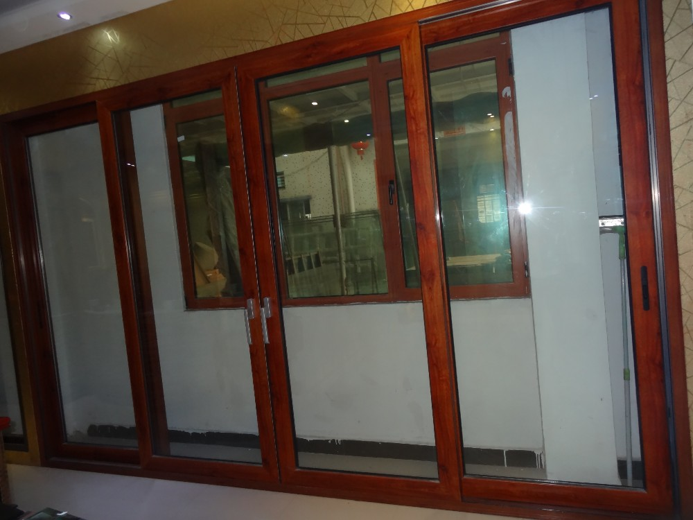 China Hollow Aluminum Glass Doorused Exterior French Doors For Sale