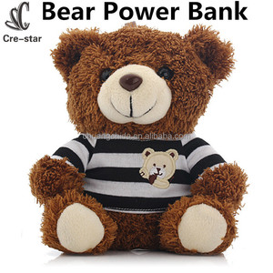 Best Gift Portable Cute Bear Power Bank 5200mah External Battery Backup Charger For smart phone