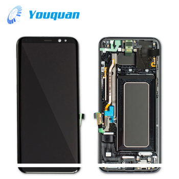 Foxconn quality lcd display for samsung galaxy s8 plus with frame