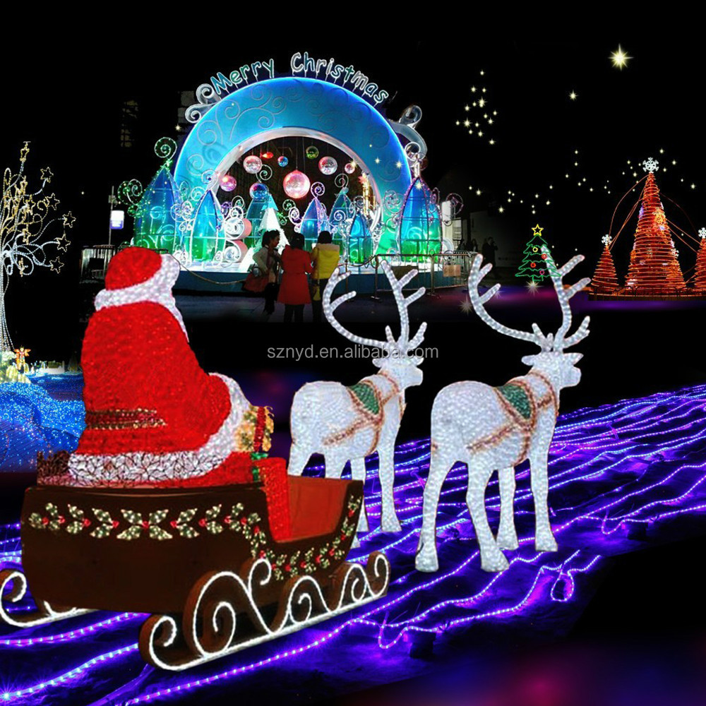 Professional Funny Led Christmas Decoration For Scenes