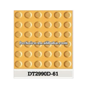 yellow porcelain tactile tile with big cautional pattern standard size 300x300x15
