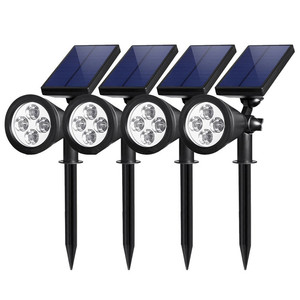 modern led garden lights solar fence lamp 4 led