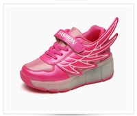trendy 2017 newest Christams children LED roller skate shoes cheap price with retractable wheels skate shoes with retractable