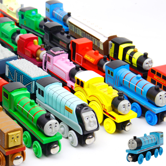 12PCS LOT New Thomas and Friends Anime Wooden Railway Trains Toy Model Great Kids Toys for