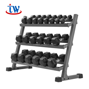 China Fitness Equipment body building gym equipment Used 3 Layer Dumbbell Weight Rack For Sale